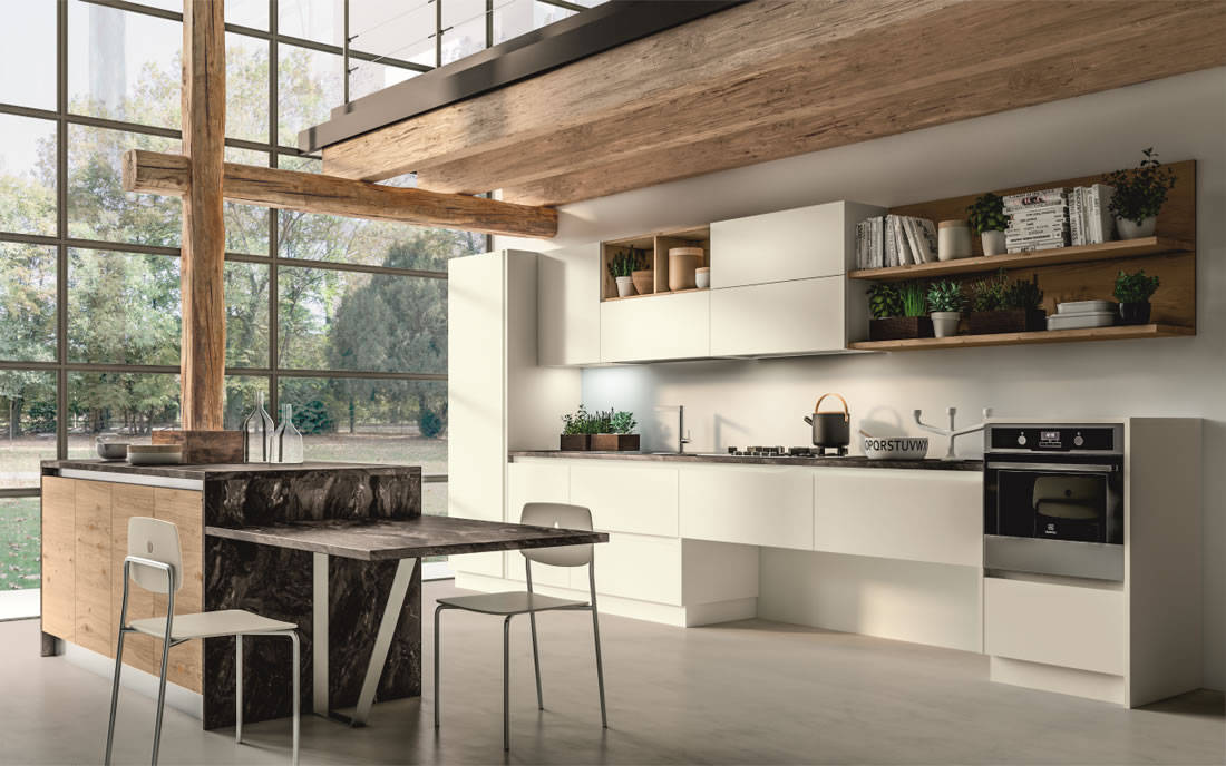 Cucine mio dino arredamenti - Cucina rovere bianco ...